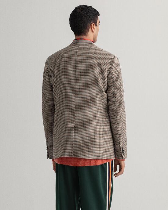 Veste blazer de costume à carreaux en motif pied-de-poule