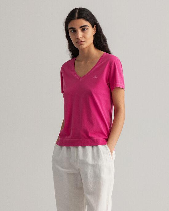 T-shirt col V Sunfaded