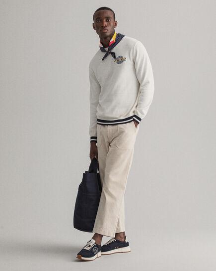 Foulard en soie façon colour-block Iconic G