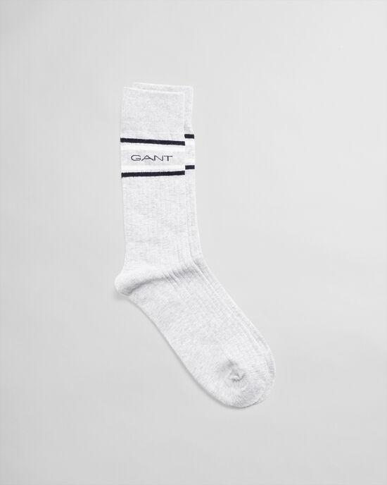 Chaussettes à rayures Logo