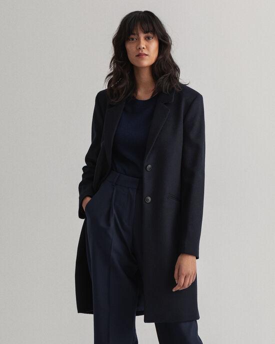 Manteau ajusté en laine Classic