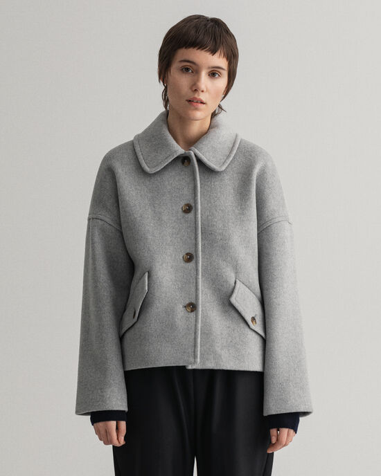 Veste courte en laine mélangée