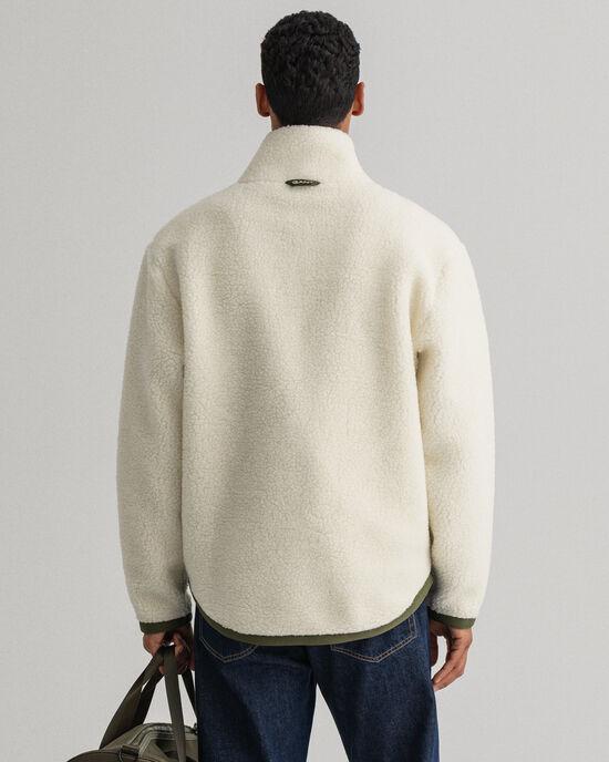 Veste polaire en laine mélangée