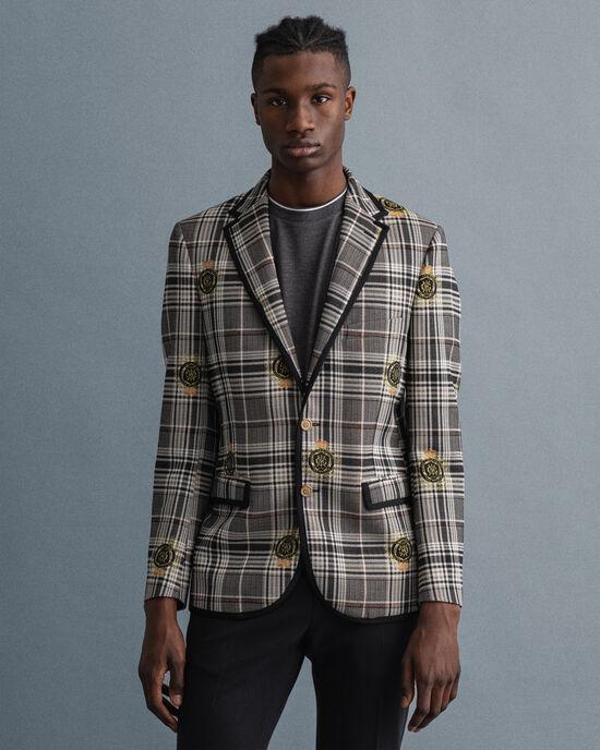 Veste blazer à carreaux Prince-de-Galles Crest