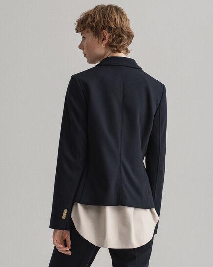 Veste blazer slim fit en jersey de coton piqué Tech Prep™