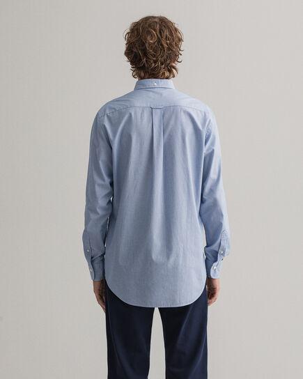 Chemise regular fit en popeline de coton à fines rayures