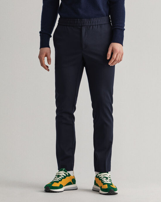 Pantalon de jogging slim fit en sergé Hallden