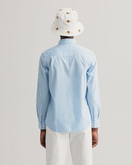 Chemise en popeline de coton à rayures
