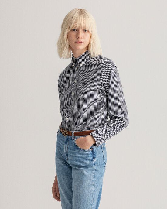 Chemise à carreaux vichy tricolores