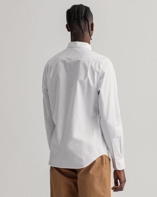 Chemise slim fit en coton Oxford armuré à pois