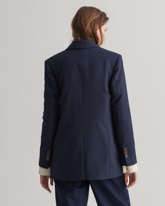 Veste blazer ultra-ample en laine mélangée