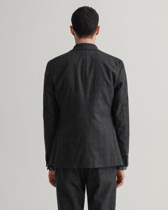 Veste blazer de costume en flanelle à carreaux