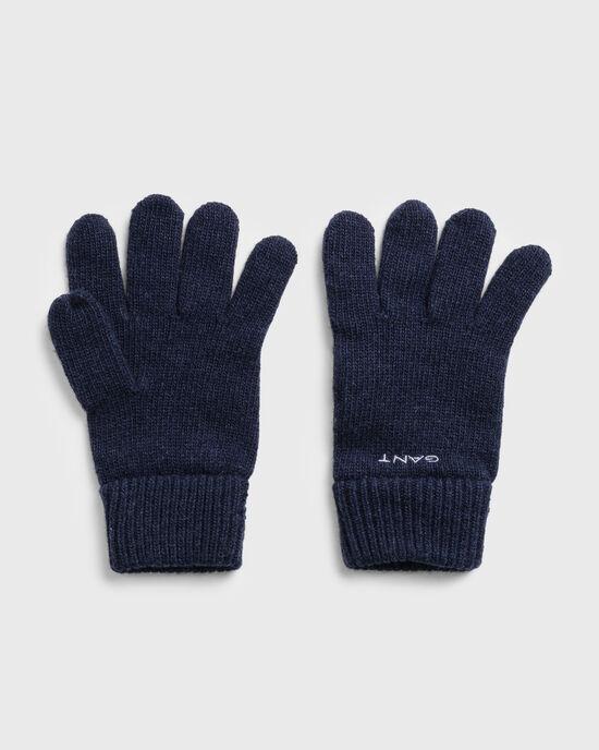 Gants en laine tricotée