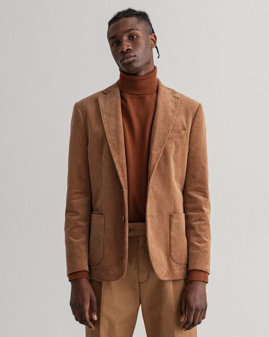 Veste blazer en velours côtelé