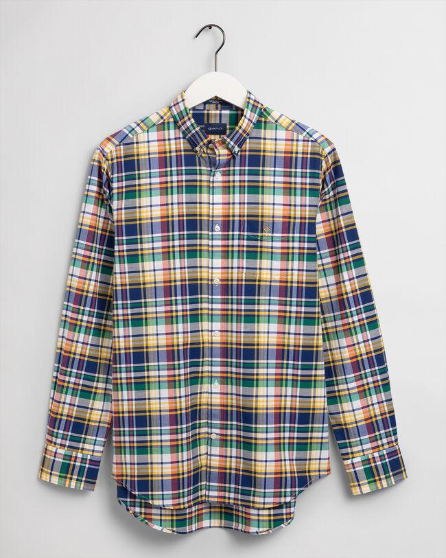 Chemise regular fit en coton Oxford à motif écossais