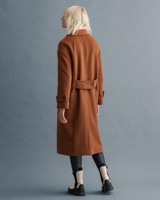 Manteau Cocoon en laine mélangée