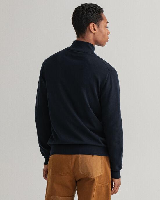 Cardigan zippé en coton Classic
