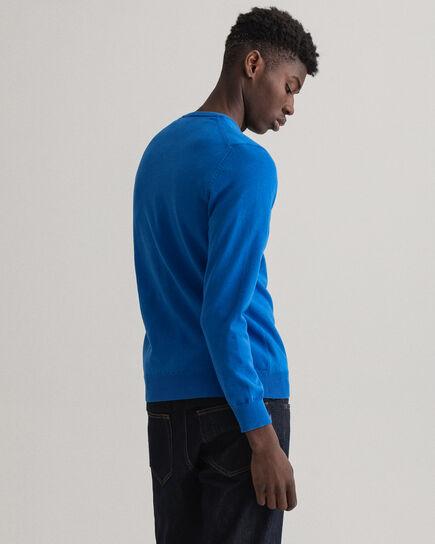 Pull col V en coton stretch Contrast