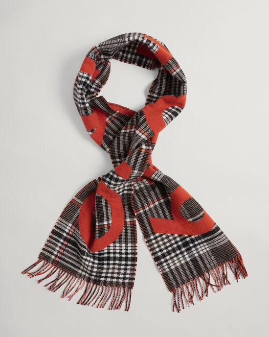 Écharpe en laine à carreaux Prince-de-Galles Logo