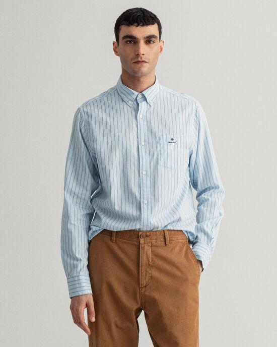 Chemise regular fit en coton Oxford à rayures