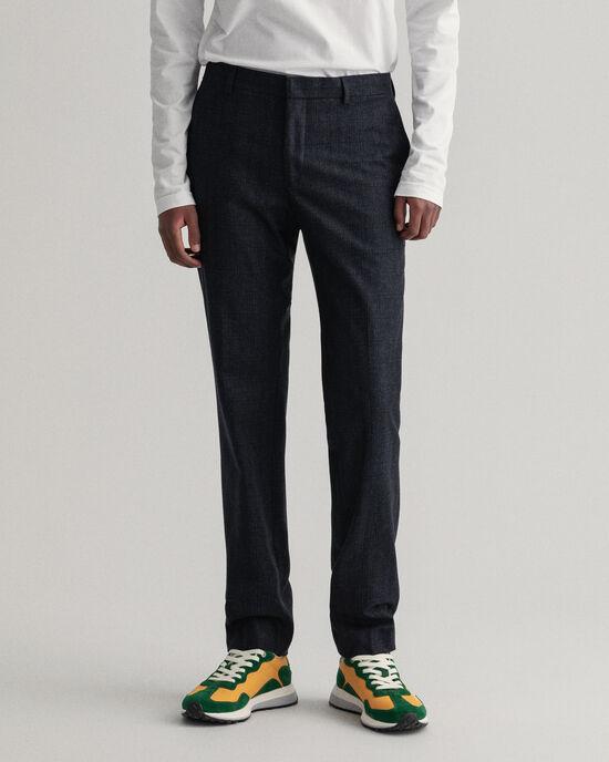 Pantalon de costume en flanelle à carreaux