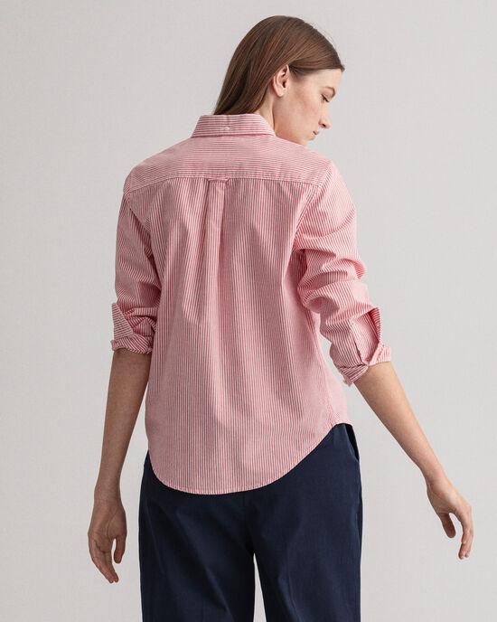 Chemise en coton Oxford à rayures