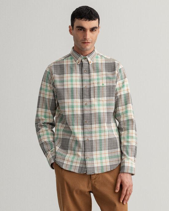 Chemise regular fit en sergé épais à carreaux