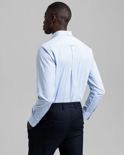 Chemise regular fit en popeline de coton à rayures