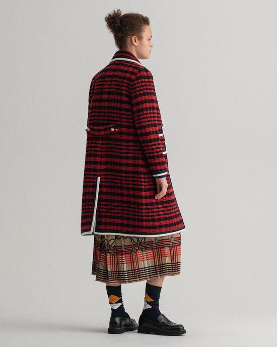 Manteau en tweed à carreaux Bold