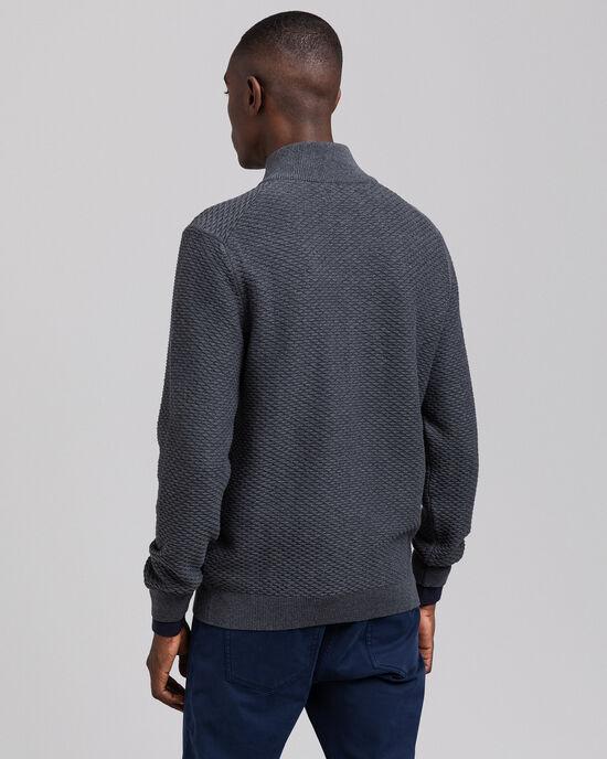 Pull zippé avec motif Triangle Texture