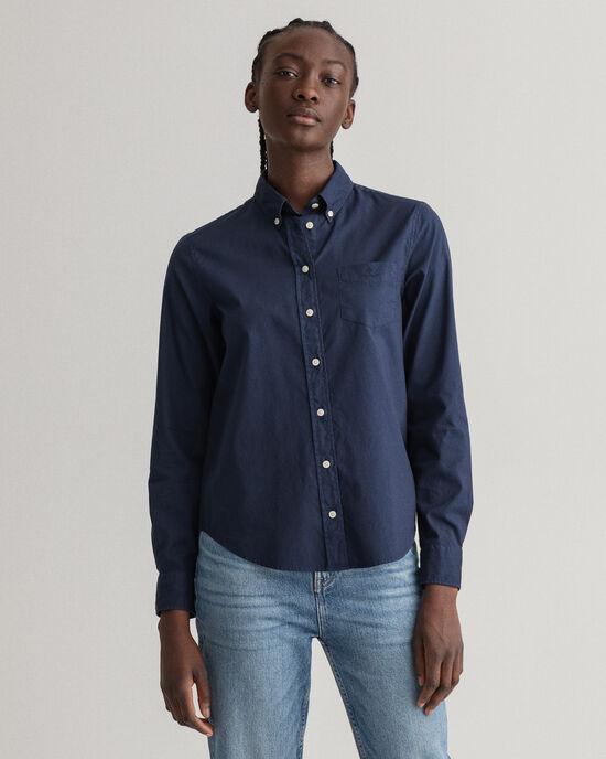 Chemise en coton Oxford Garment-Washed