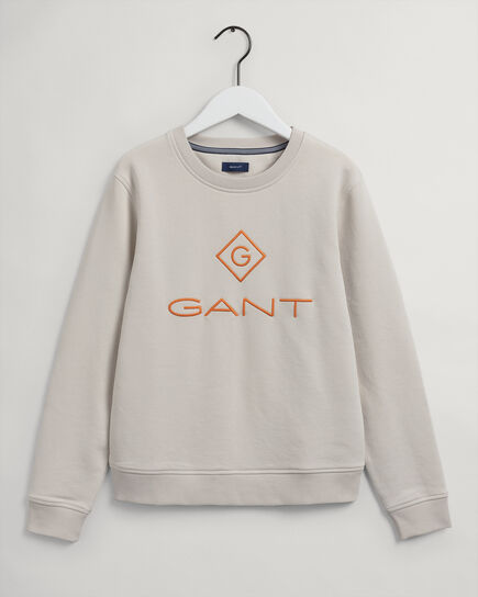 Sweat-shirt ras du cou coloré Logo