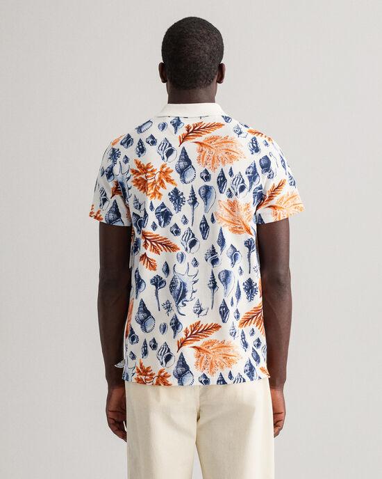 Polo Rugger à manches courtes et imprimé Seaside