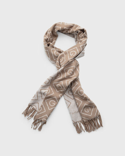 Écharpe en laine à motif Iconic G
