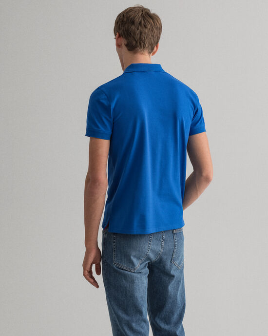 Polo Rugger en coton piqué à col contrastant