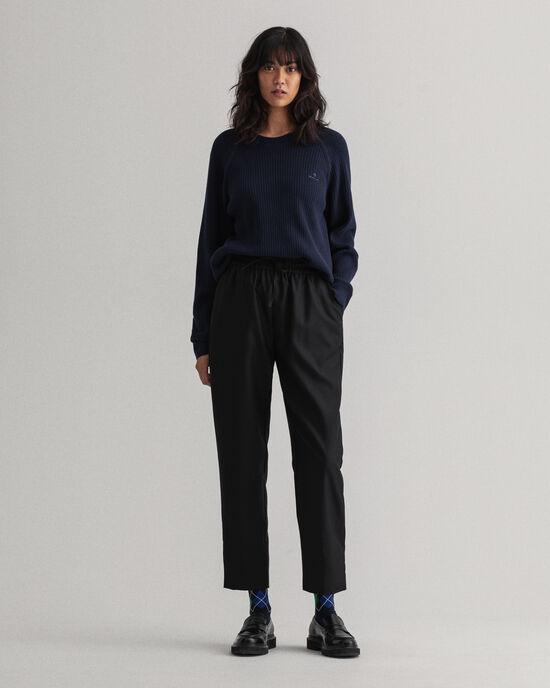 Pantalon à enfiler en laine mélangée