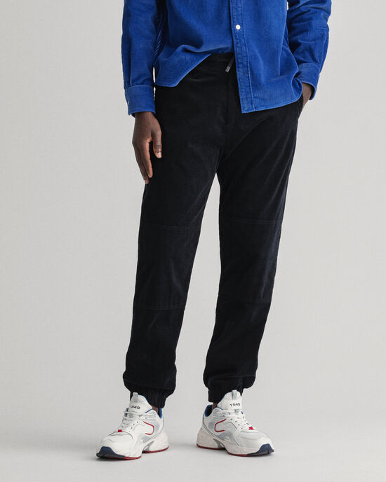 Pantalon de jogging regular fit en velours côtelé Allister