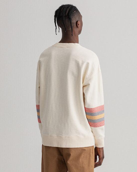 Sweat-shirt ras du cou relaxed fit Geometric