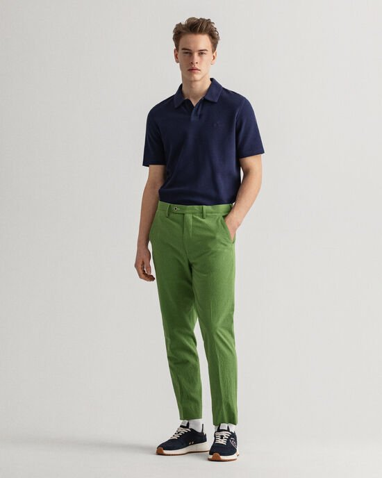 Pantalon de costume en seersucker