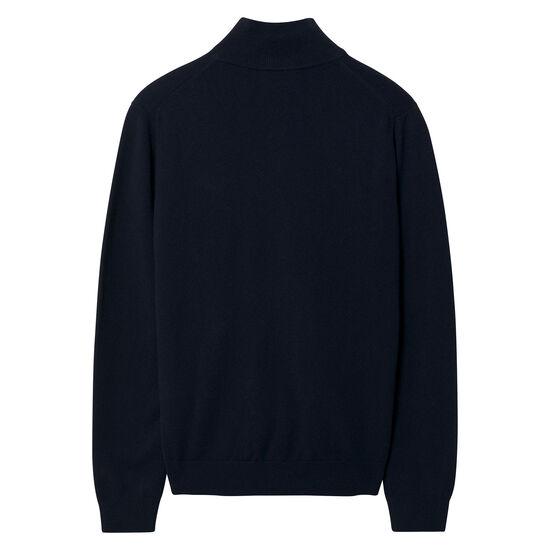 Cardigan zippé en laine d'agneau ultrafine