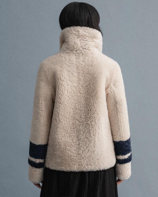 Caban réversible en peau lainée