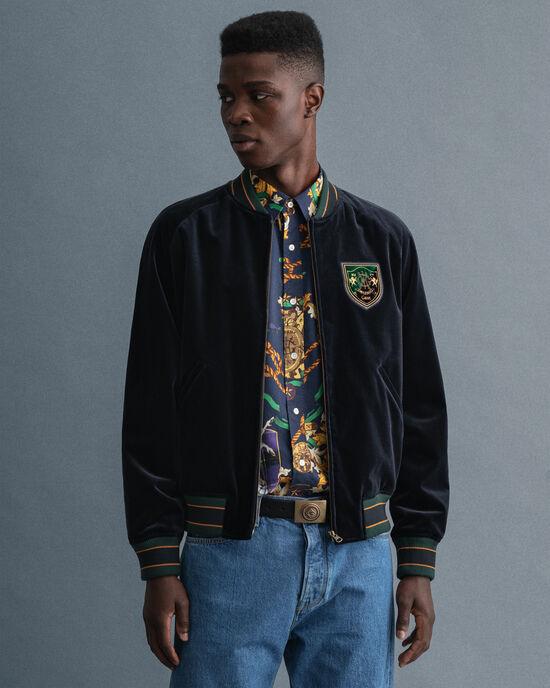 Veste GANT Varsity Jacket en velours