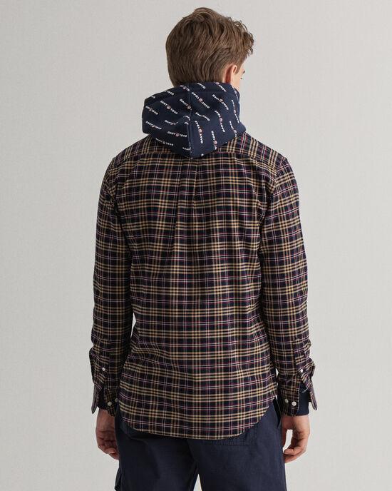 Chemise regular fit en coton Oxford brossée à carreaux