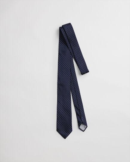 Cravate en soie à pois