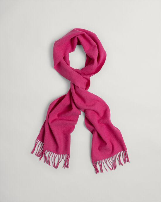Écharpe en laine unie