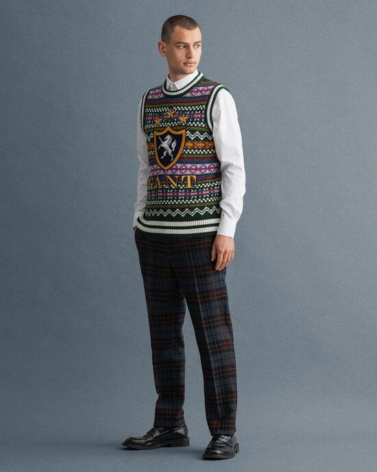 Pantalon de costume à carreaux Holiday